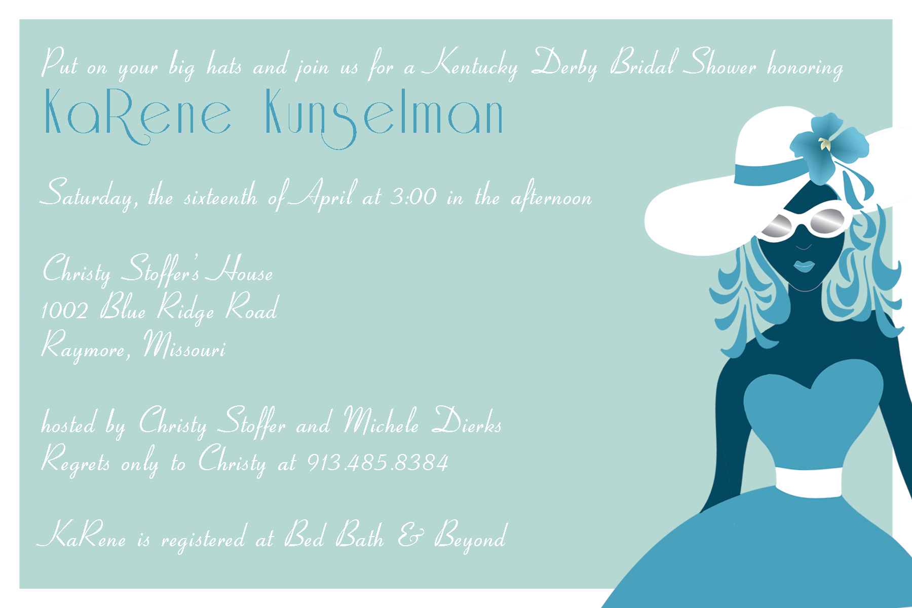 Kentucky Derby Bridal Shower Invitations correctly perfect ideas for your invitation layout